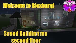 Roblox | Willkommen in Bloxburg *SPEED BUILDING 2ND FLOOR*