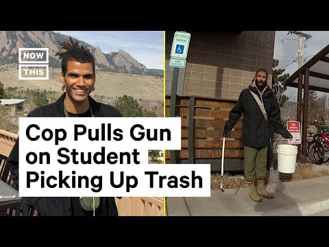 Officer Pulls Gun on Student Picking Up Trash Outside of Dorm Building | NowThis