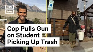 Download Officer Pulls Gun on Student Picking Up Trash Outside of Dorm Building | NowThis Mp3 and Videos