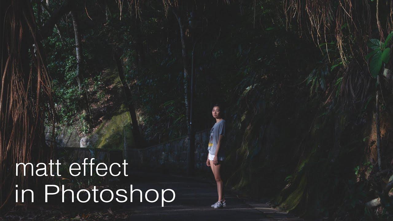 Matt Effect in Photoshop   different methods DONE