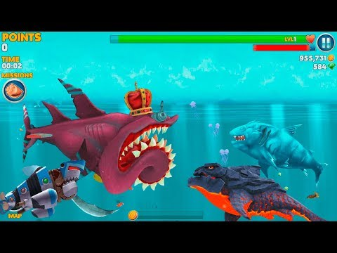 Hungry Shark Evolution Ice Shark Android Gameplay #34