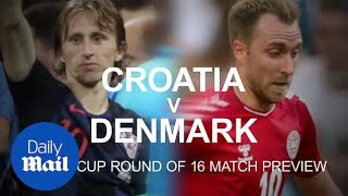 Croatia's chances in beating Denmark in the World Cup