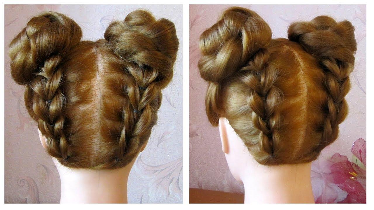 Tuto coiffure simple ☆ Space Buns/Double Bun ☆ Coiffure facile à faire soi même - YouTube