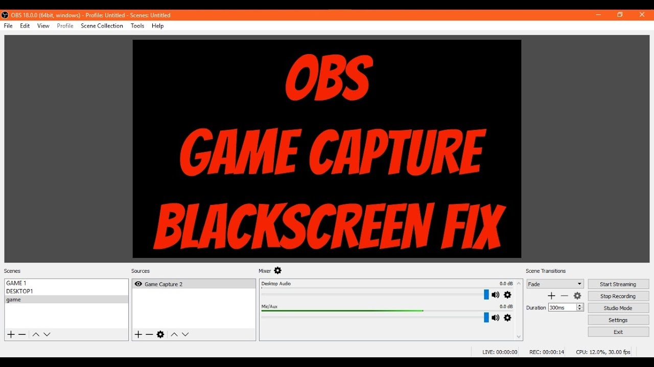 Obs Blackscreen