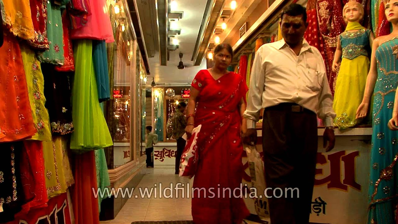 9c47e1e92cc255 Saree shop in Varanasi selling famous Benarasi sarees - YouTube
