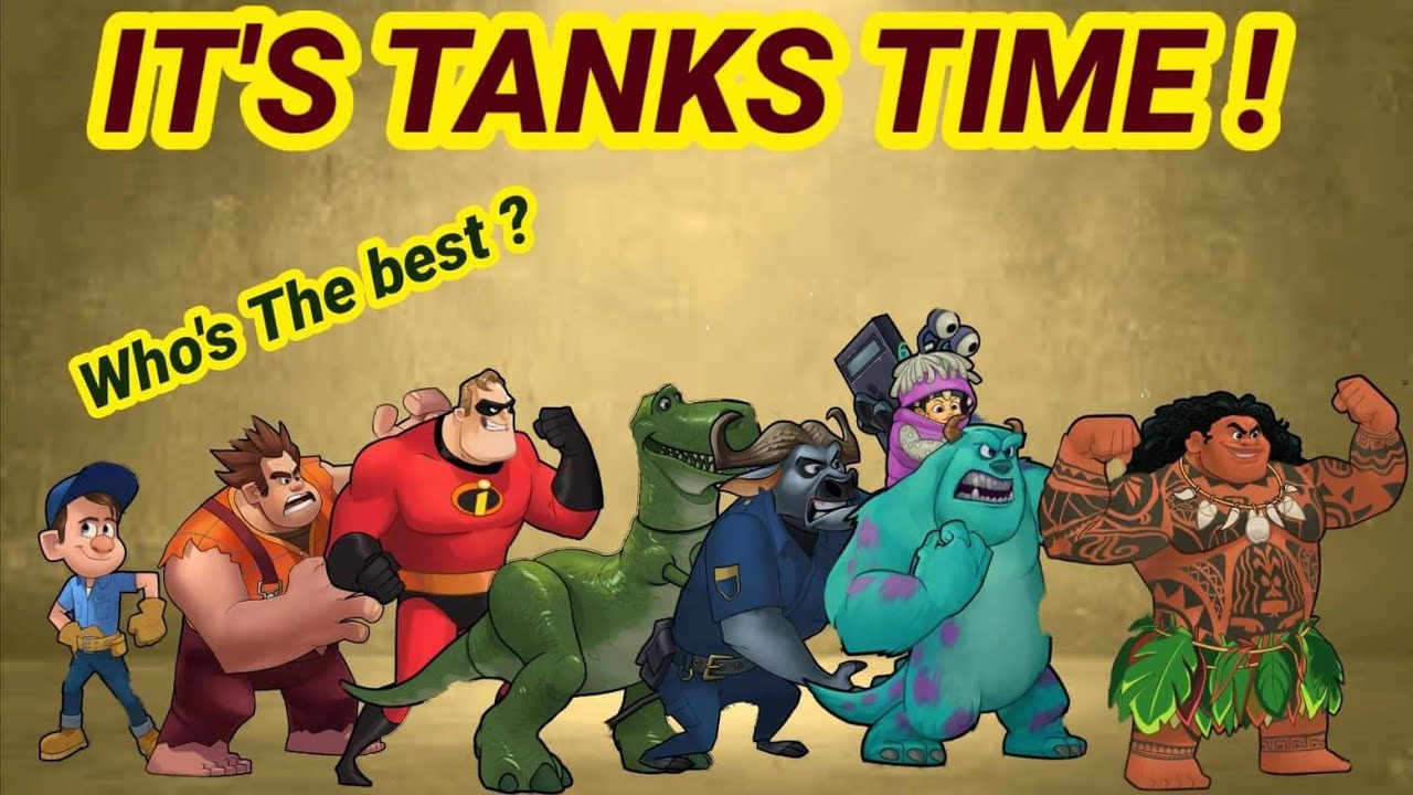 Disney Heroes Battle Mode: All Tank Review Best To Worse - User Request