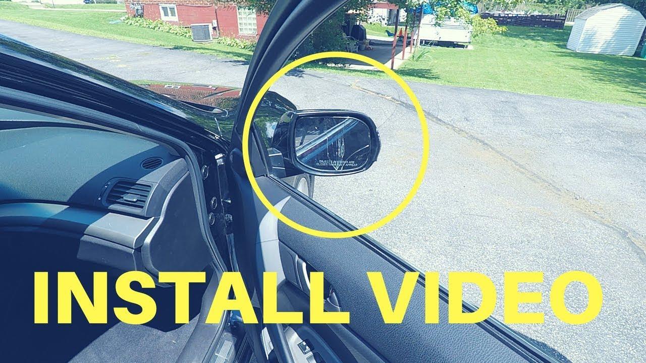 Acura Tsx Mirror Glass Install Youtube