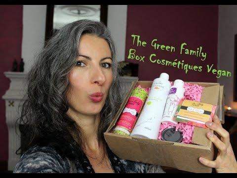 La Box Cosmétiques Vegan The Green Family !!