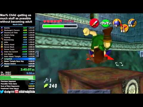 "Ocarina of Time Max% Child ""Speedrun"" in 5:52:34"