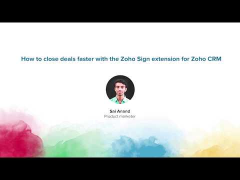 How to close deals faster with the Zoho Sign extension for Zoho CRM