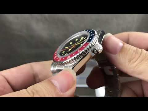 San Martin Vintage GMT Watch Automatic Diving Watch