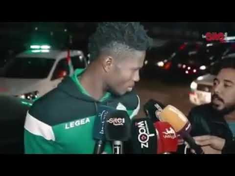الرجاء مالنغو لحظة سؤاله، ماذا يمتل لك اللعب ضد فريقك السابق مازيمبي ، ردة فعل غير متوقعة و مضحكة هه