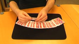 Find a card instantly with hands covered (Usborne card tricks)