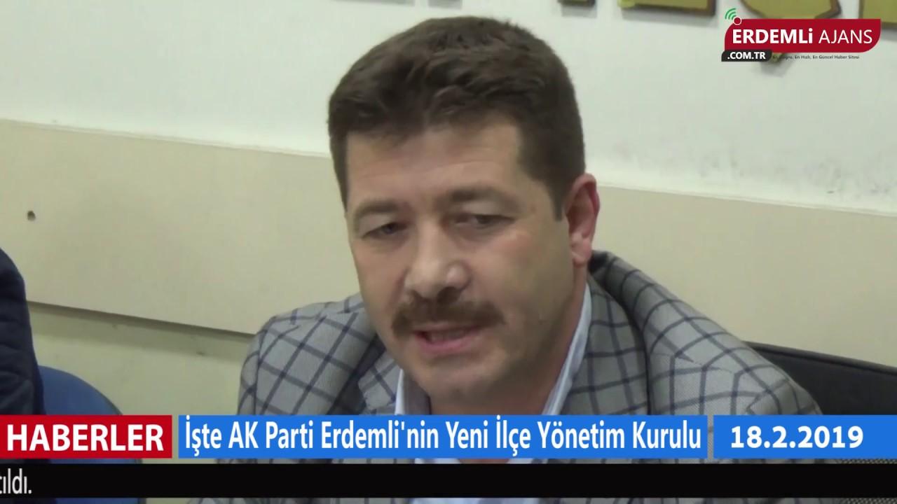 İşte AK Parti Erdemli'nin Yeni İlçe Yönetim Kurulu