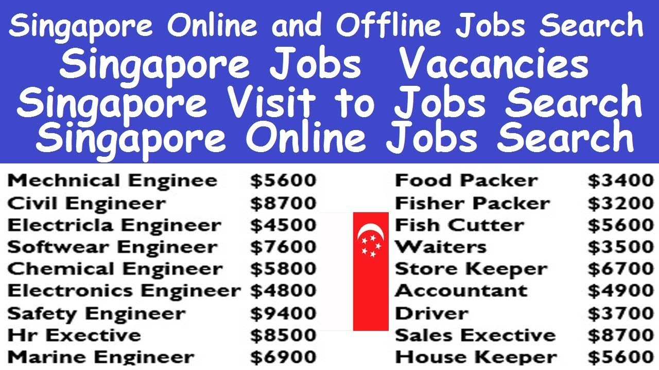 Singapore Online and Offline Jobs Search l Job Search Online Singapore l Singapore Jobs Vacancies - YouTube