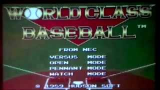 World Class Baseball AZWC Review for the Turbografx-16