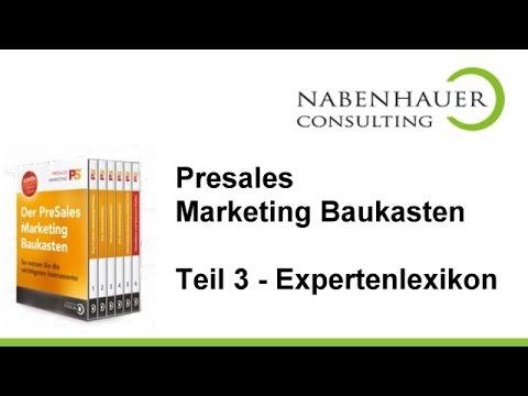 PreSales Marketing Baukasten - Teil 3: So erstellen Sie Ihr Expertenlexikon - Reputation steigern