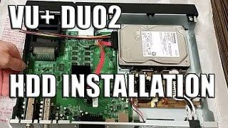 Vu+ Duo2 Receiver HDD Installation - Festplatte einbauen