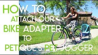 On Black Petique Bike Adapter For All Terrain Jogger Pet Stroller Bike Adapter