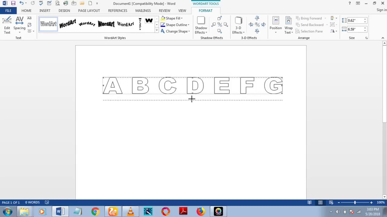 how to download fonts and make dashed/dotted letters and number tracing in  microsoft word 2013