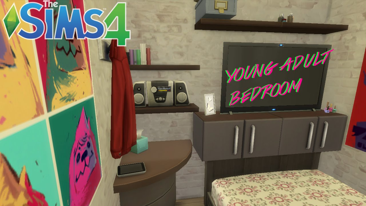 THE SIMS 4 | Compact Home | Young Adult bedroom - YouTube