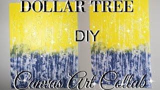 DOLLAR TREE CANVAS ART COLLABORATION WITH SHARON SHE SO FABULOUS PETALISBLESS