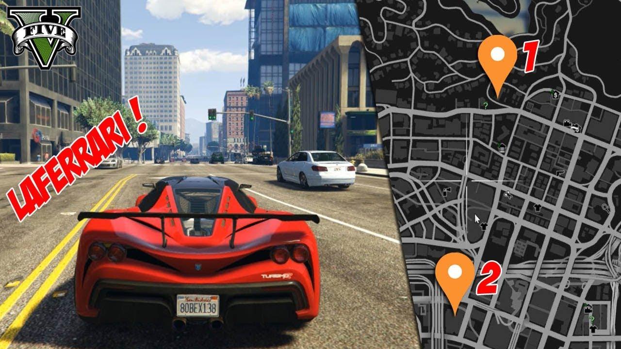2 Lokasi Mobil Super Sport Ferrari Di Gta 5 Cara Mendapatkannya Youtube