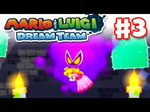 Mario & Luigi: Dream Team - Gameplay Walkthrough Part 3 - Kidnapped in a Dream! (Nintendo 3DS)