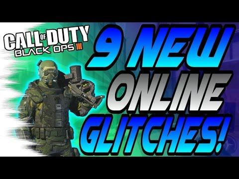 (1/11/16) 9 NEW BO3 Multiplayer Glitches! - High Ledges, Trickshot Glitches (BO3 Online Glitch)