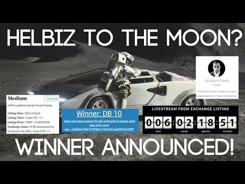 Helbiz (HBZ) Exchange Listing & Giveaway Winner Announced!!