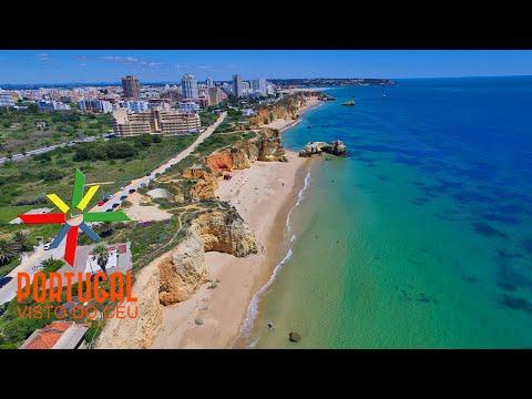 Praia da Rocha, 3 Castelos, Careanos, Vau, Praia do Alemão flight - Portimão - Algarve - 4K Ultra HD