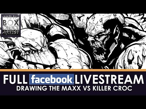 DRAWING THE MAXX vs KILLER CROC - FULL 3 HOUR FACEBOOK LIVESTREAM