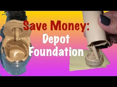Save Money - How to Depot Foundation Bottles