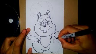 How to Draw a Chipmunk - Como Dibujar una Ardilla 13