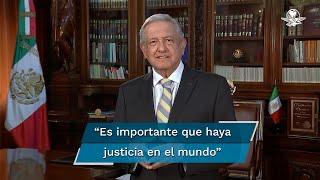 A través de un video, el presidente de México envió una felicitación a la ONU por el 75 aniversario de su fundación; resaltó la importancia de respetar los derechos humanos