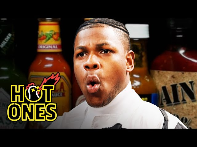 John Boyega Summons the Force While Eating Spicy Wings   Hot Ones