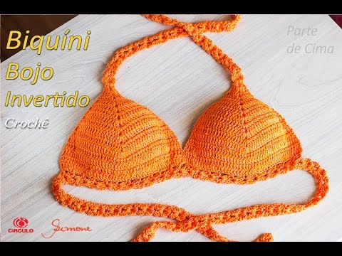 ba65807d03f6 Biquíni de crochê: passo a passo, modelos, gráficos - Artesanato Passo a  Passo!