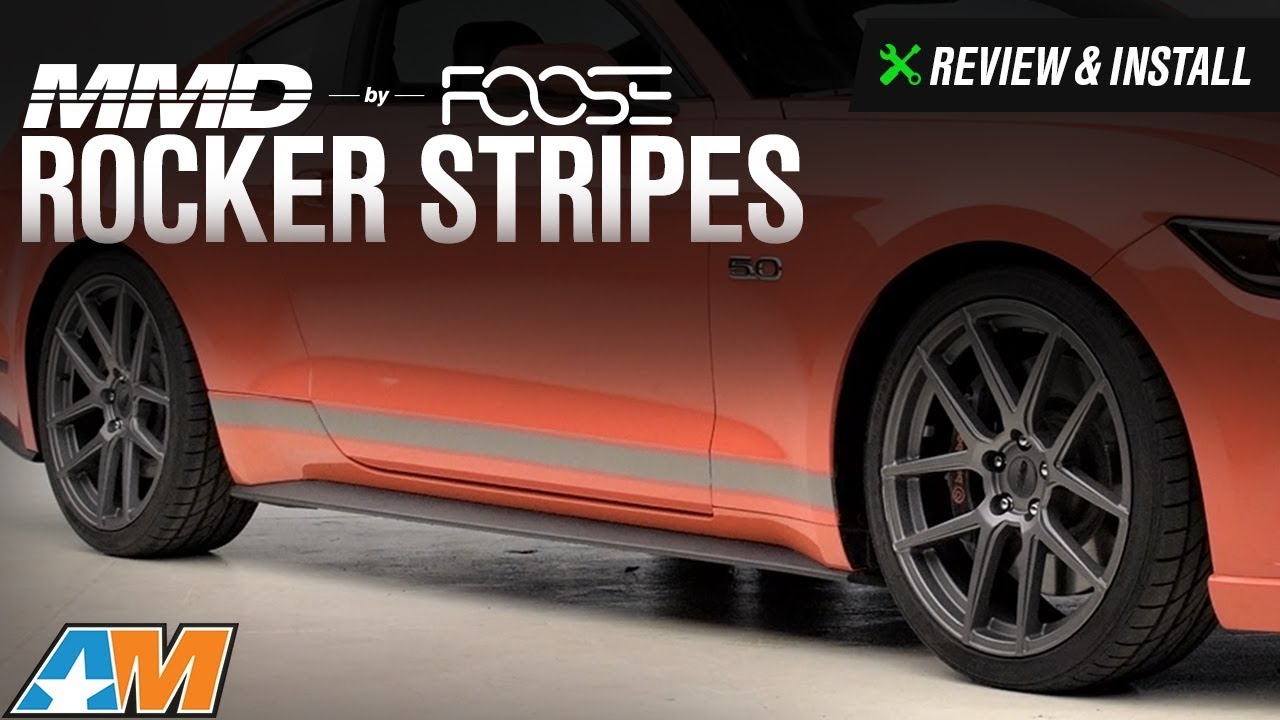 2015 2017 mustang mmd by foose rocker stripes review install