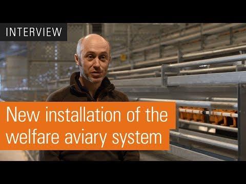 Welfare aviary system for free range egg production | Natura Nova Triple Top