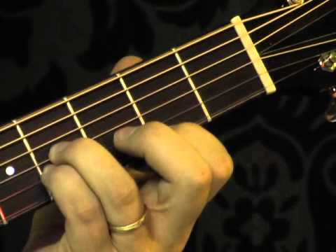 How to play a B chord.