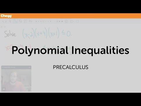 Polynomial Inequalities | Pre-Calculus | Chegg Tutors