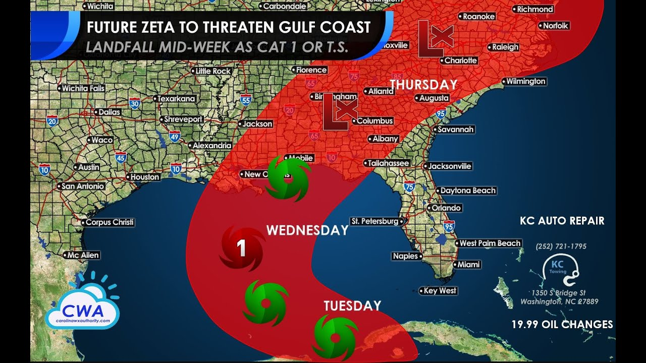 Future Zeta Likely to Strike the Central Gulf Coast Next Week