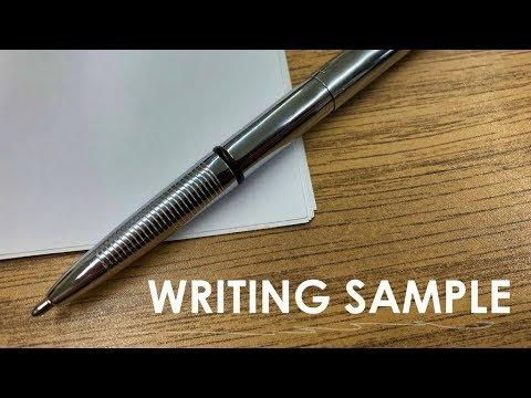 Fisher Space Pen Bullet Chrome Finish Writing Sample