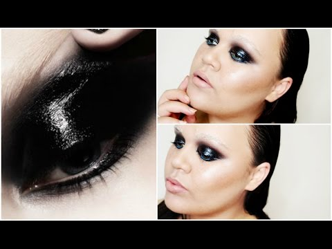 Glossy Black Smokey Eyes with a Pop of Blue | MakeupwithJah