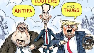 5 scathing cartoons about Trump's battle with protesters