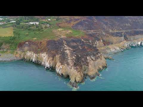 Eire Marking Bray Head - Ireland From Above