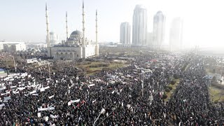 'We love Prophet' Massive anti-Charlie Hebdo protest hits Chechnya