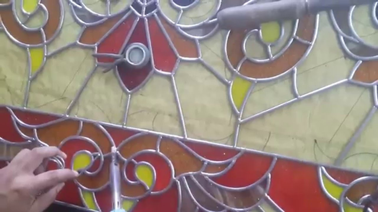 How plug the lead stained glass welding wire . - YouTube