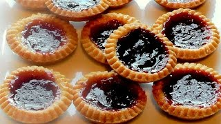 Christmas Jam Tarts How to make recipe - Strawberry tart Simple delicious snack food