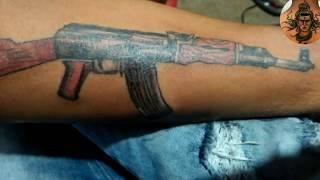 #AK 47 #TATTOO #streax #tattoo